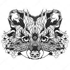 татуировки енота енот голову тату векторное изображение