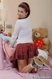 Teen Shaved Redhead Schoolgirl Koni Demiko with Plump Pussy.