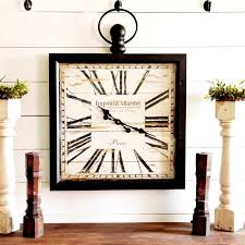 metal framed square wall clock