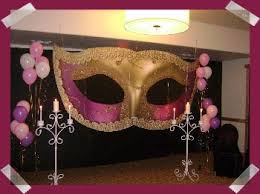 Mask Decoration Ideas Mask decoration Alexis' Sweet 60 Masquerade Ball Ideas 47