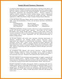 5 Summary Statement Statement Synonym