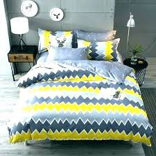 yellow and grey quilt duvet cover sets target