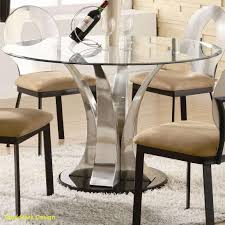 exquisite dining room glass top design ideas with round table mounted stainless steel base legs