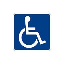 Handicap Bathroom Signs Gorgeous Amazon Handicap Access ADA Sticker Window Door Decal Automotive