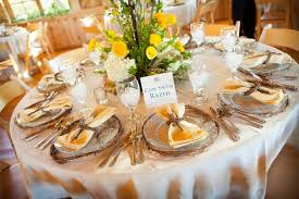 Round Table Settings For Weddings Round Table Place Settings