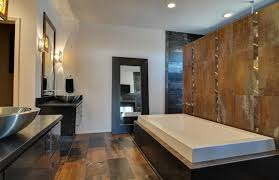 modern master bathrooms. Stylish Contemporary Master Bathroom With Tile Accent Wall Modern Bathrooms
