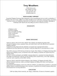 Receiving Clerk Job Description Resume