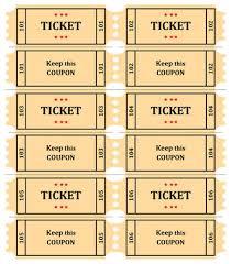 Raffle Ticket Word Template 40 Free Editable Raffle Movie Ticket