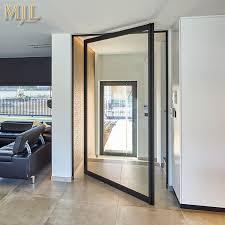 china thermal insulated soundproof aluminium alloy framed glass pivot doors china aluminum frame pivot door interior pivot doors