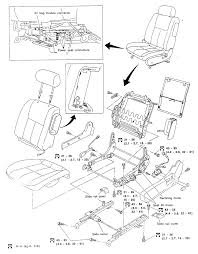 1 exploded view of later model vehicles with side air bags mounted in the front seats