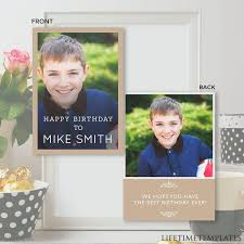 Birthday Card Template Birthday Invitation Card Birthday Template Photoshop Psd Instant Download