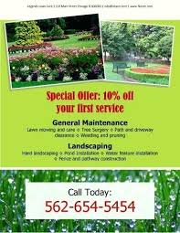 lawn care advertising templates free landscaping templates landscape flyer templates lawn care