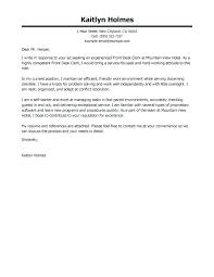 Cover Letter For Hotel Front Desk Letter Resume Directory