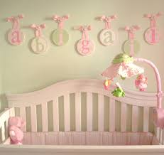 Hanging Baby Nursery Wall Letters Impressive White Name Alphabet Abigail  Doll