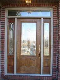 white single front doors. Amazing Design Ideas For Fiberglass Front Doors With Glass : Exciting Cherry Wood Single Door White