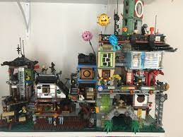 Finally finished my Christmas present! Ninjago city! Never seen it connected  to Docks in this way! : lego