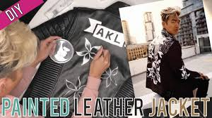diy hand painting my leather jacket
