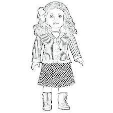 American Girl Doll Colouring Sheets Color Pages Coloring Emo Free P