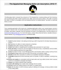 managing editor job description copywriter job description
