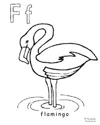 Dierenalfabet Kinder Kleurplaten Flamingo