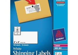 Avery 10 Per Page Labels Avery Shipping Label 10 Per Sheet 2 X 4 Template Avery 8163 White