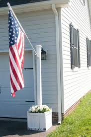 flag pole planter diy patio backyard