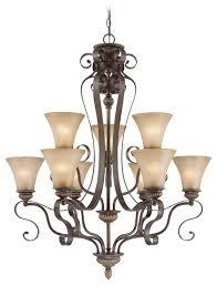 jeremiah lighting kingsley 9 light chandelier century bronze