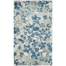 safavieh evoke rug evoke vintage fl grey light blue distressed rug 2 2 x 4