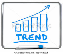 Trend Chart Trend Chart Going Up Arrow Rising Data 3d Illustration