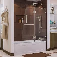 dreamline aqua lux 48 in w x 58 in h frameless bathtub door