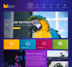 Metro Template Joomla Template Flat Design For Blog Social And Business