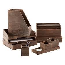 Feathergrain Wooden Desktop Organizer