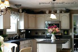 decor above kitchen cabinets. Greenery Above Kitchen Cabinets Basic Tags Top Of  Cabinet Decor Upper X Close R