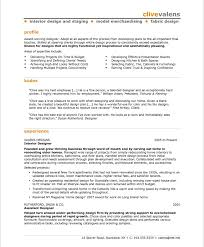 Resume Examples Templates Sample Easy Interior Design Resume