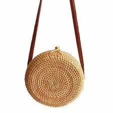 XINIU Brand Bag Women Circle <b>Handwoven</b> Bali Round Shoulder ...
