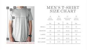 Regular Fit T Shirt Size Chart Mens Tshirt Size Chart Nixon Us
