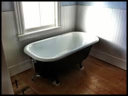 5 foot bathtub in white acrylic slipper clawfoot tub cast iron freestanding