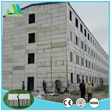 fast install lightweight eps cement precast concrete wall panels