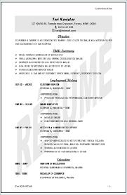 Resume Template Australia Resume Example
