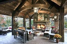covered patio with fireplace outdoor ideas flooring cool for your home fir