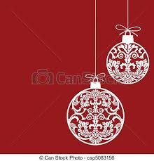 Christmas ornaments balls - csp5083156