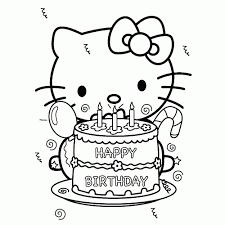 25 Zoeken Happy Birthday Kitty Kleurplaat Mandala Kleurplaat Voor