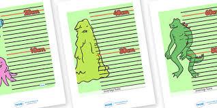 Monster Height Chart Monster Themed Height Chart Monster Themed Height Chart