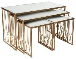 aidan gray nesting coffee table grubb only glass elegant gold leafed love oval patterns spesification emerging
