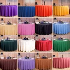 260cm high quality solid big round table cloth table cover plastic table cloth decoration ideas