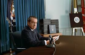 nixon office. Nixon Announces The Release Of Edited Transcripts Watergate Tapes On April 29, 1974. Less Than Four Months Later, He Would Resign From Office. Office E