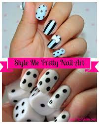 Lush Fab Glam Blogazine: Style Me Pretty: Black and White Nail Art ...