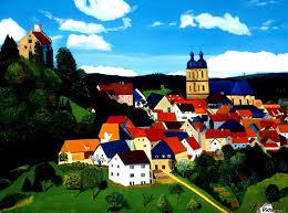 bavarian village print