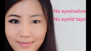 how to make eyes look bigger for asian monolid puffy eyes without eyeshadow or eyelid tape