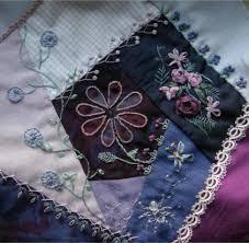 Crazy quilt embroidery - unleash your creativity & blue-purple crazy quilt block Adamdwight.com